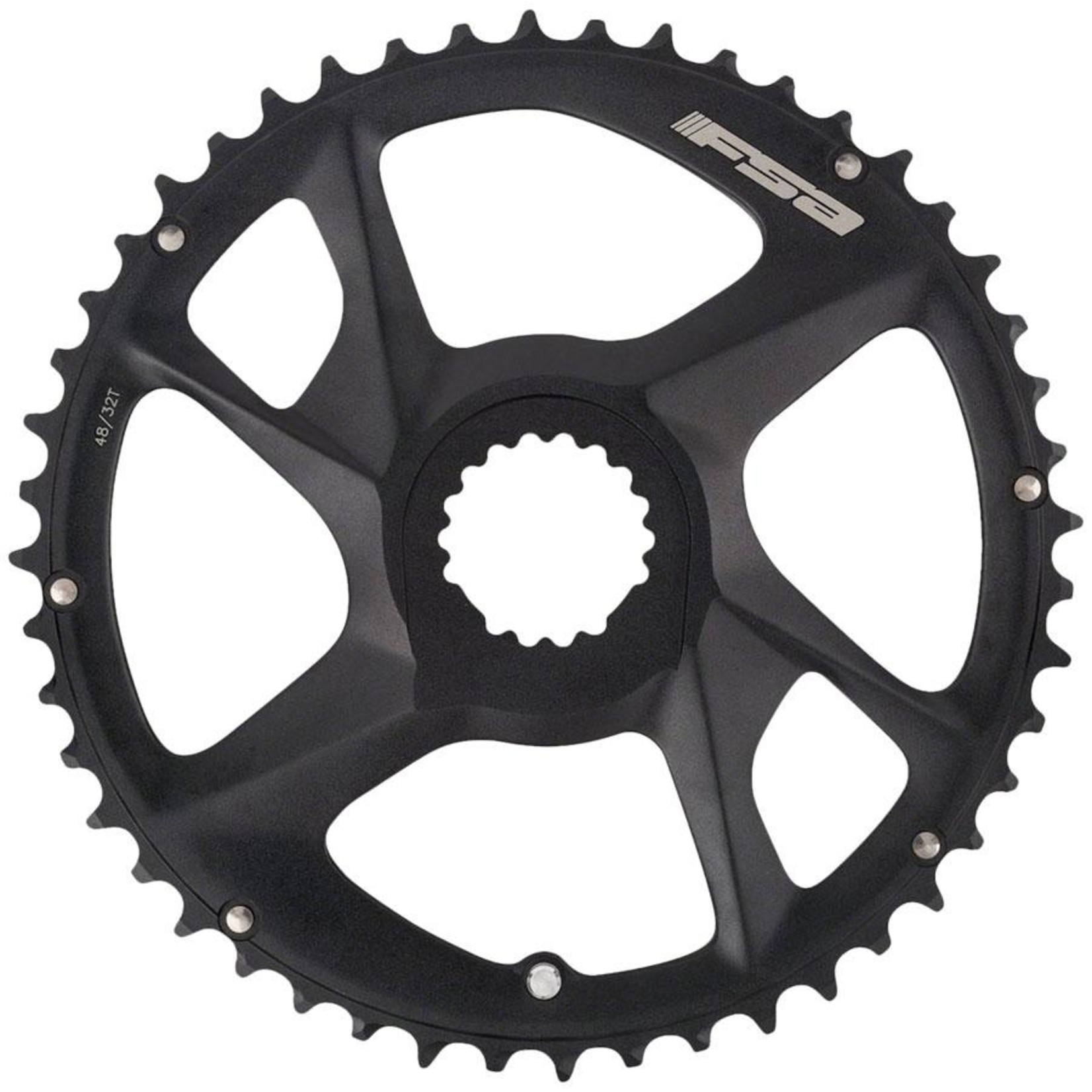 FULL SPEED AHEAD Full Speed Ahead Energy Modular Direct Mount Chainring - 48t Outer Ring, FSA Direct Mount, For use with 32t Inner Ring, Black