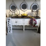 American Console Table 4 Door White