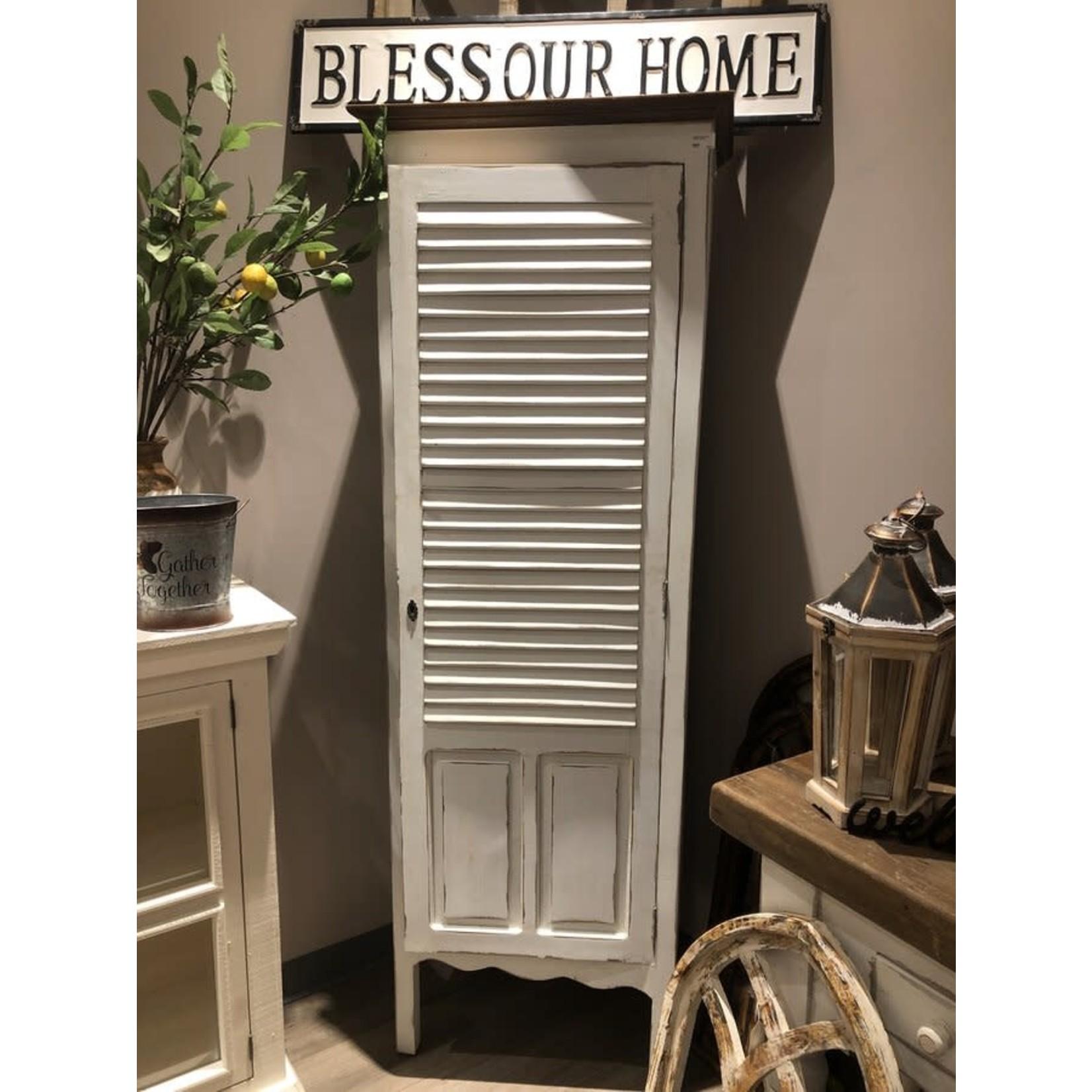 Vintage Distressed Cabinet (white)