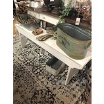 White Wooden Table Bench