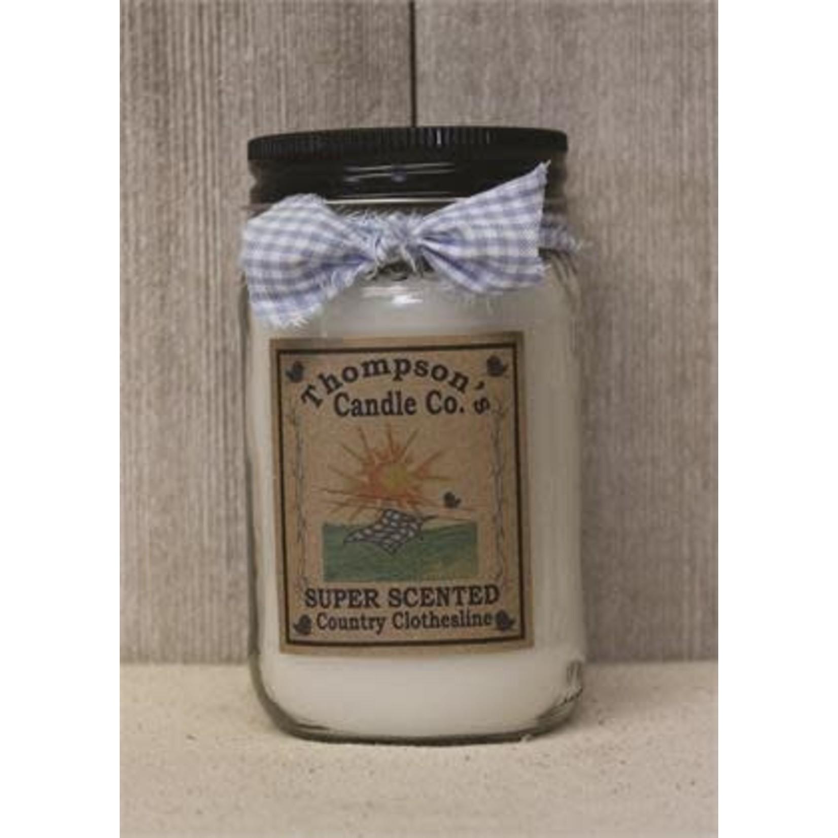 Thompson Candle 12 oz Mason Jar