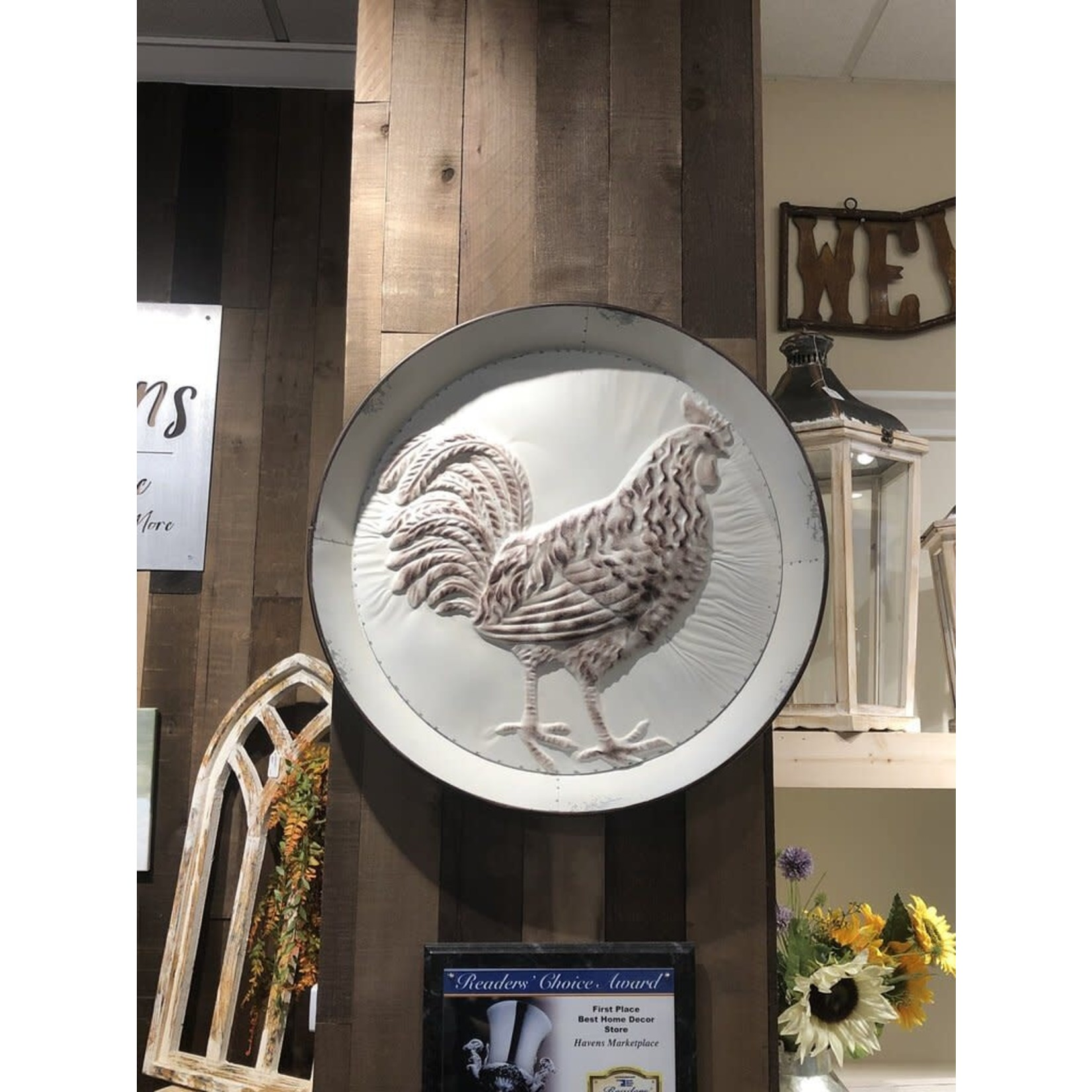 Rooster Tray (White)