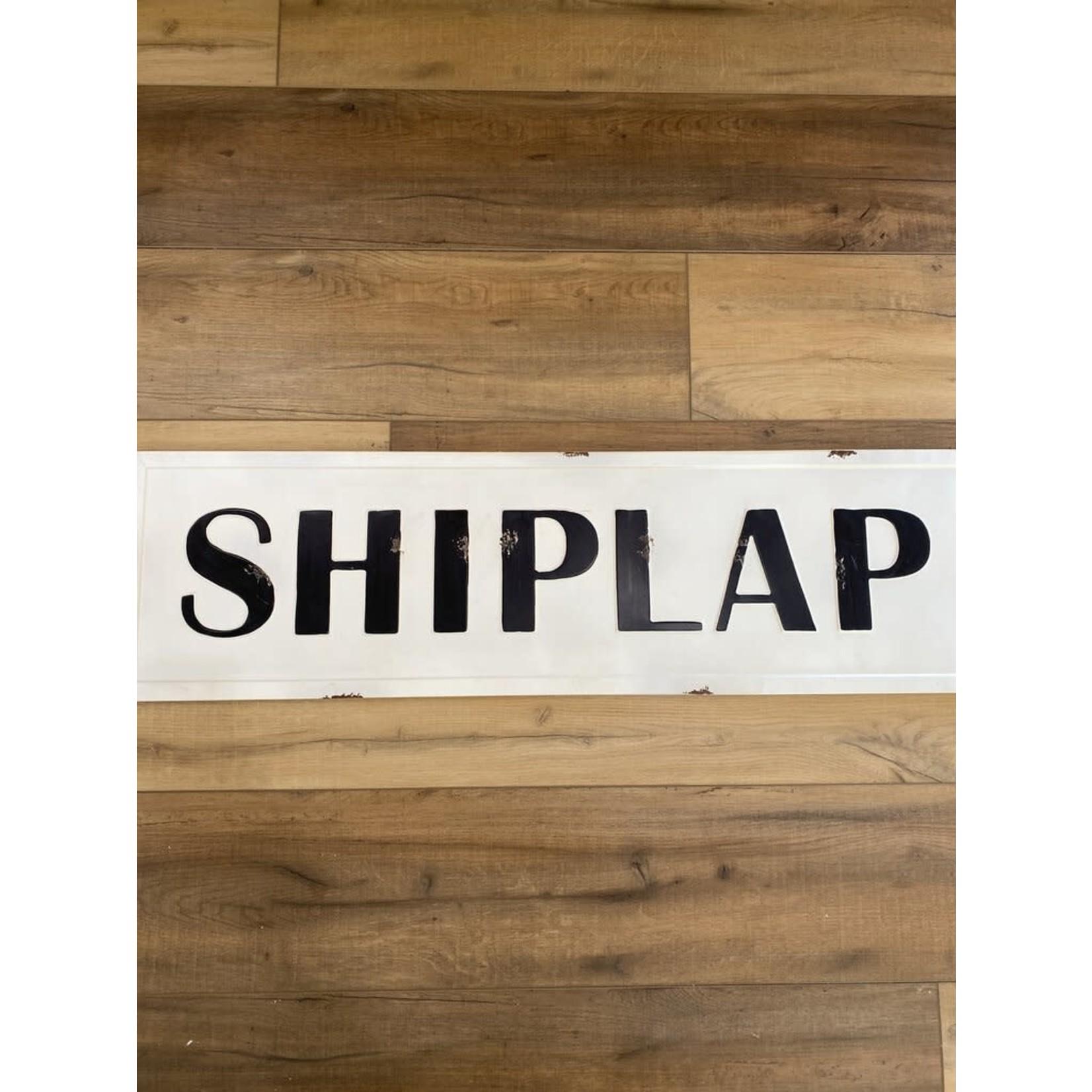 ShipLap Tin Sign
