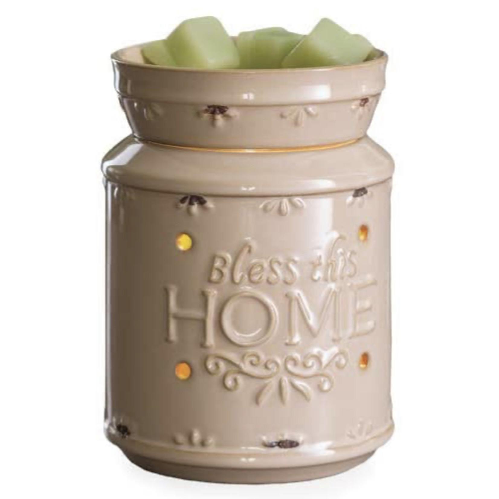 Illumination Fragrance Warmer Bless This Home Cream