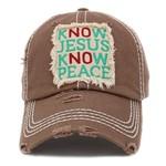 Know Jesus Know Peace Brown Hat