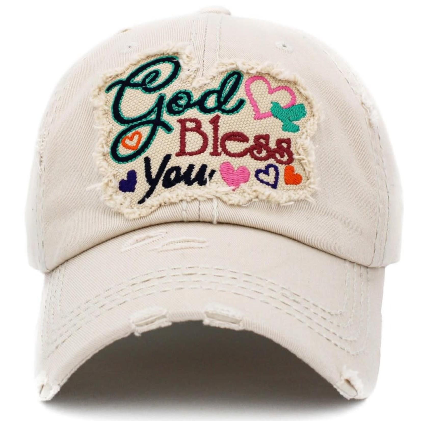 God Bless You Vintage Distressed (beige)