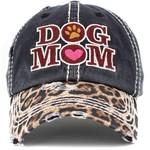 Dog Mom Baseball Hat (black)