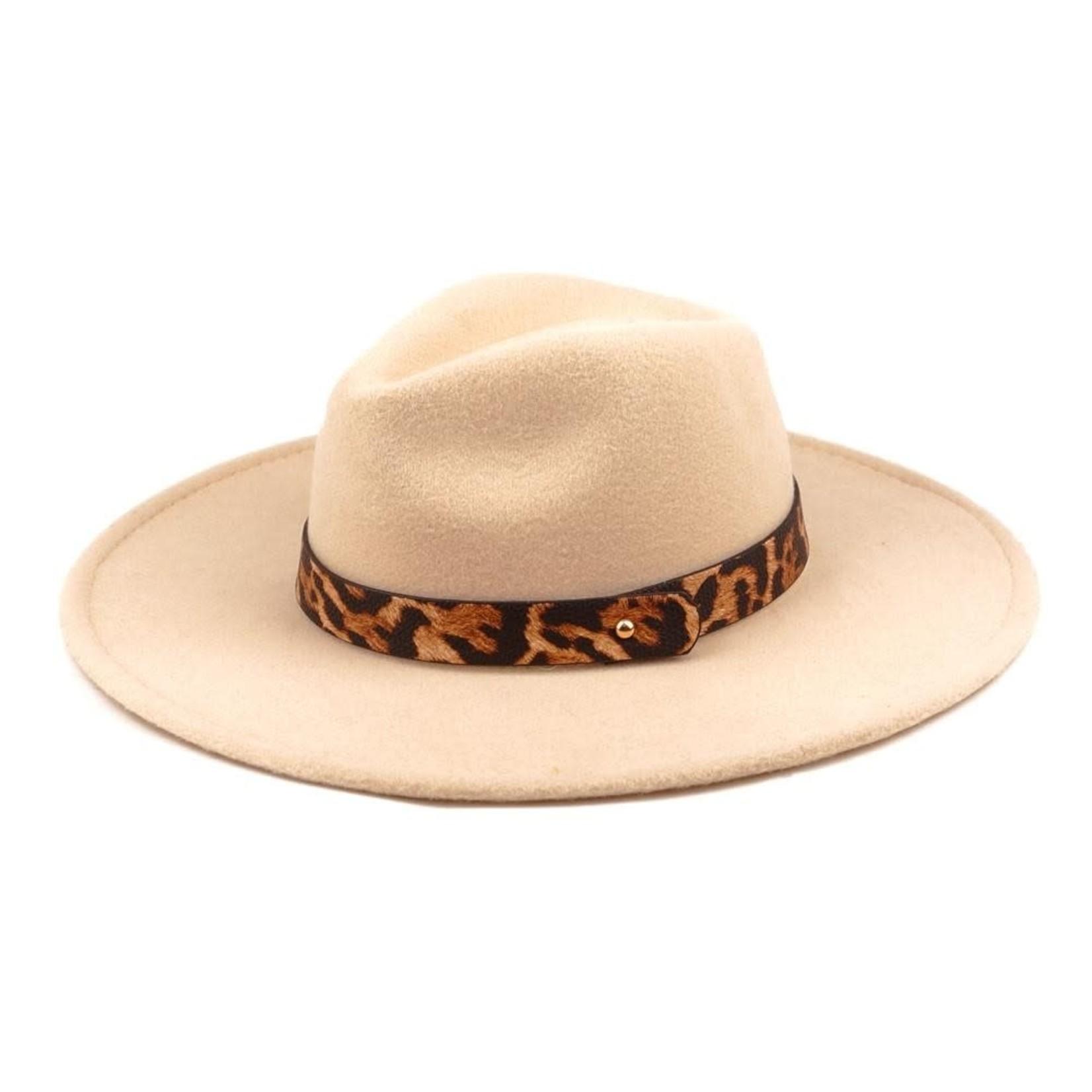 Wool Felt Panama Hat  Beige