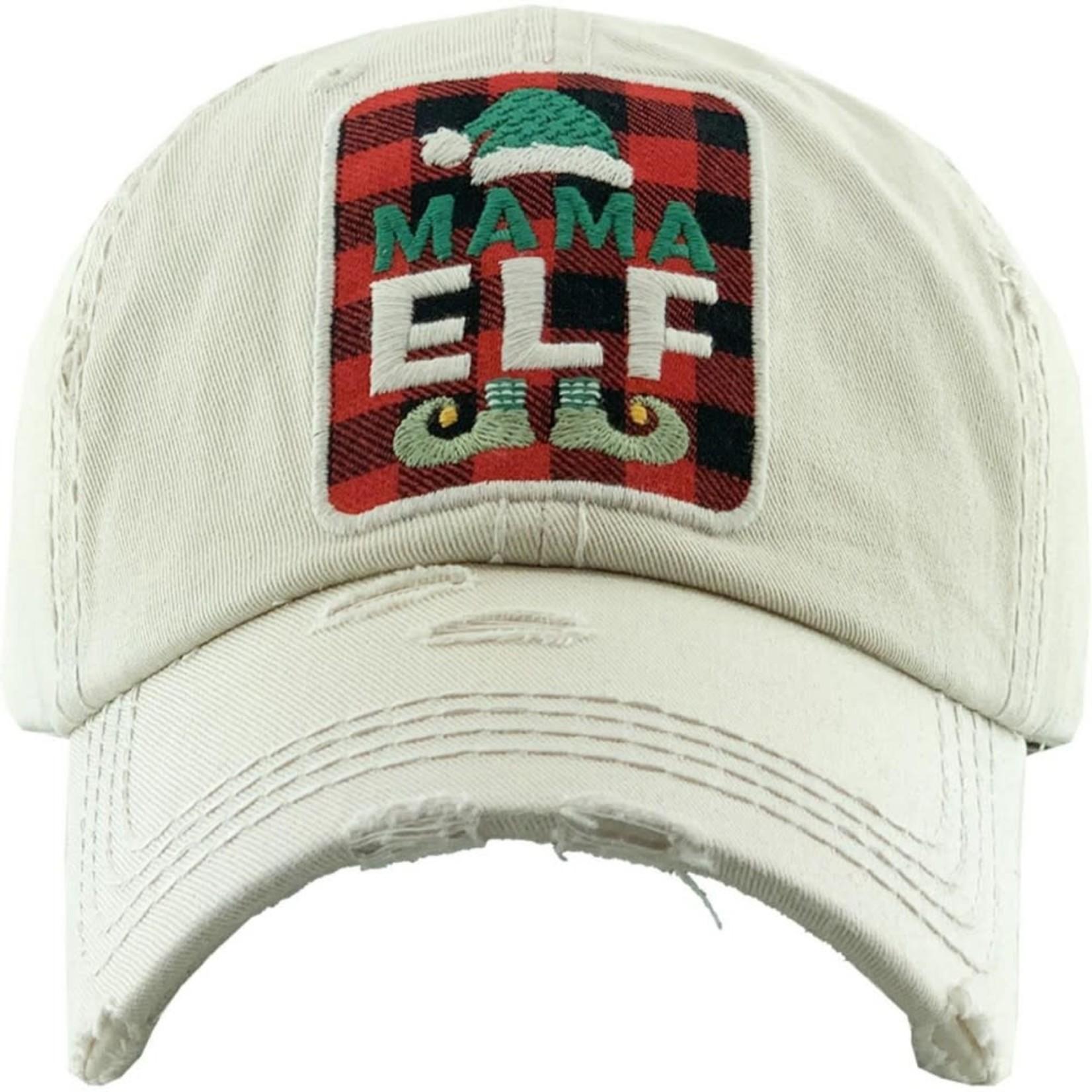 Mama Elf Cream Cap