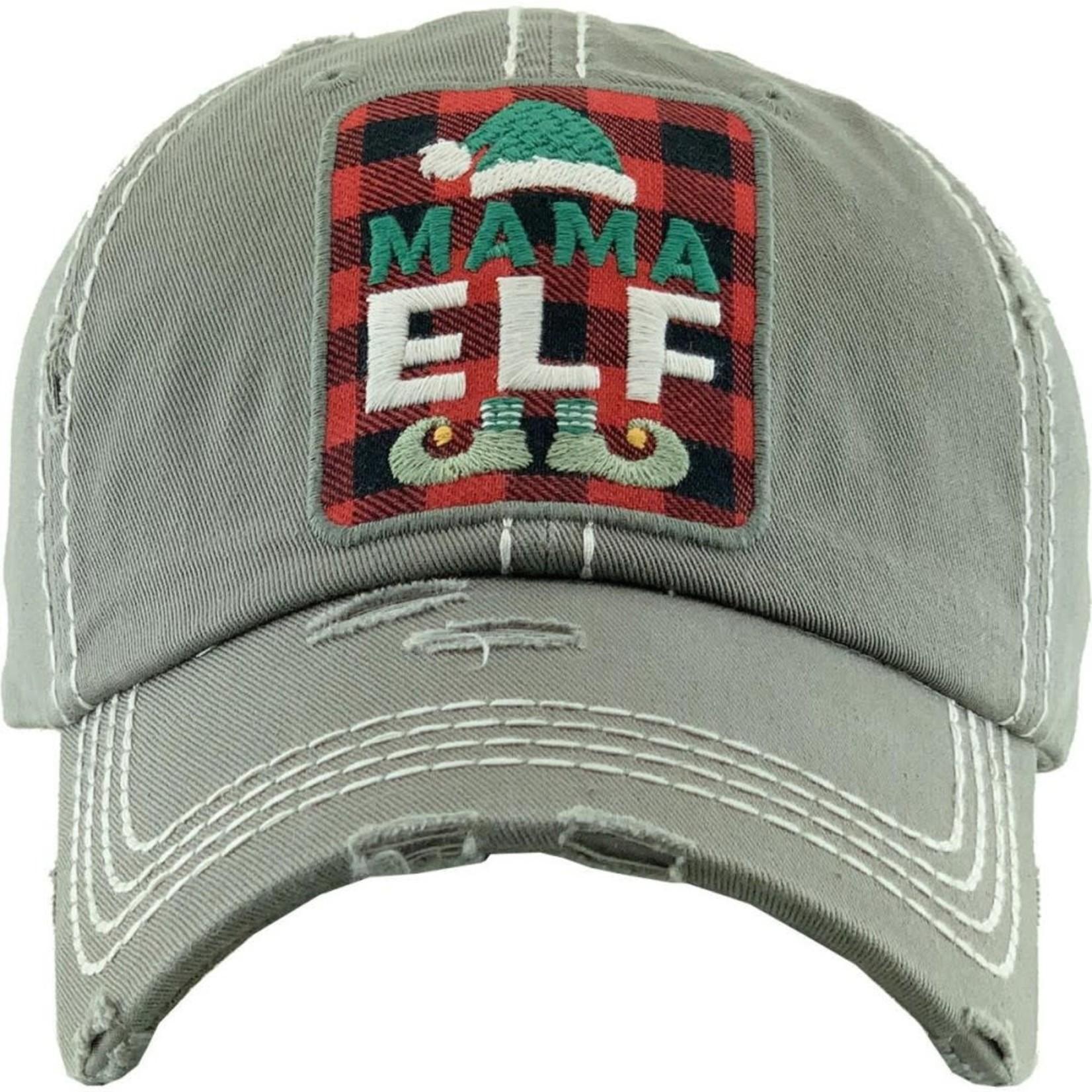 Mama Elf light Gray Cap