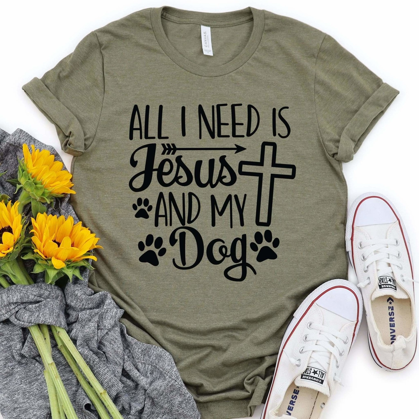 All I Need Is Jesus and My Dog Tshirt