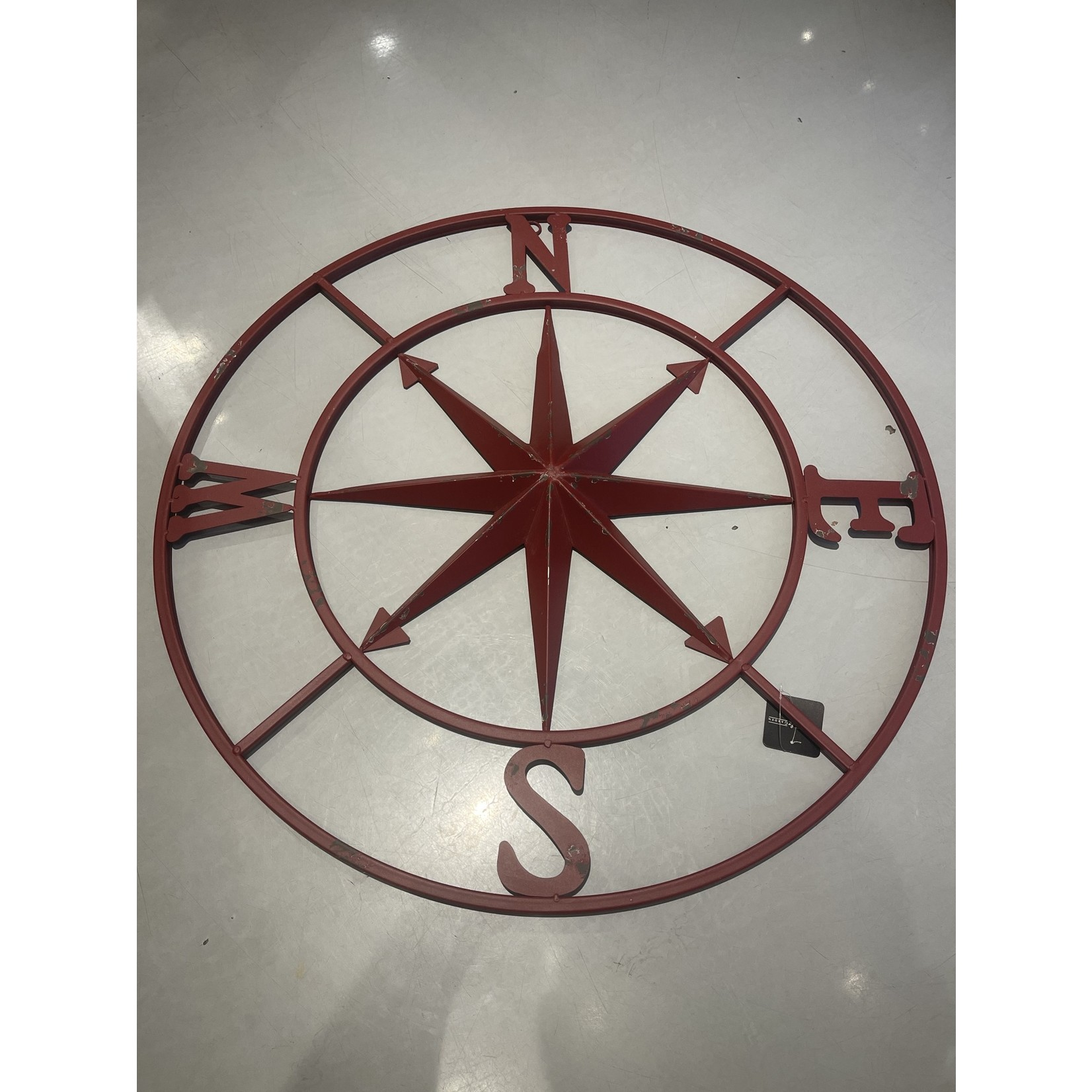 """30"""" Old Red Compass"""