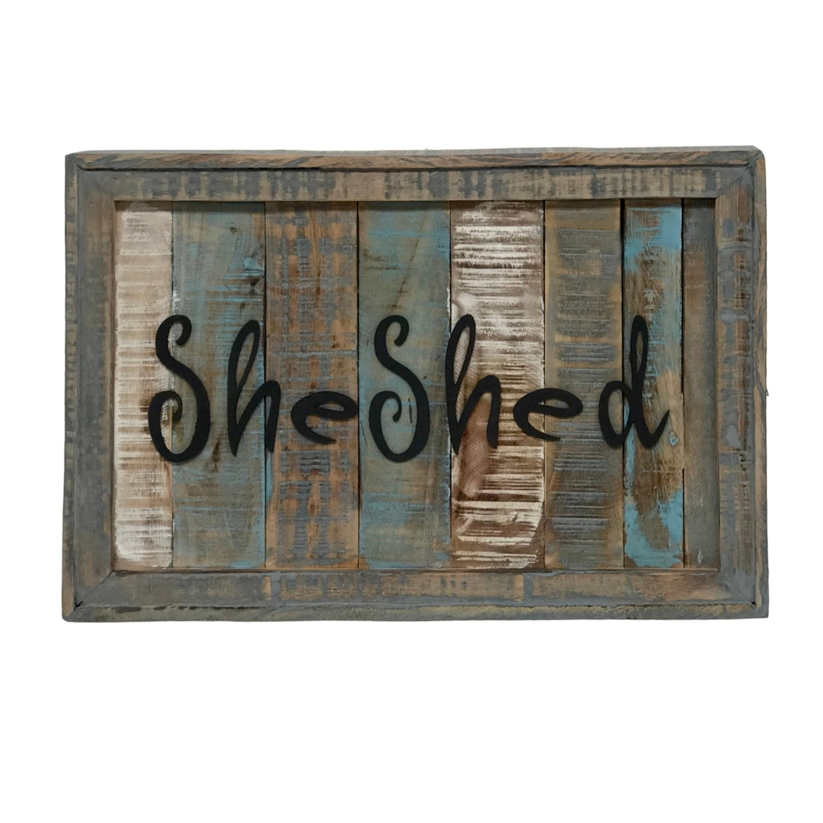 """Solid Wood Plank """"She Shed"""" Wall Sign"""