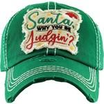 Santa Why are you Judging Green