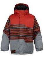 Burton boys fray jacket gray/red XL