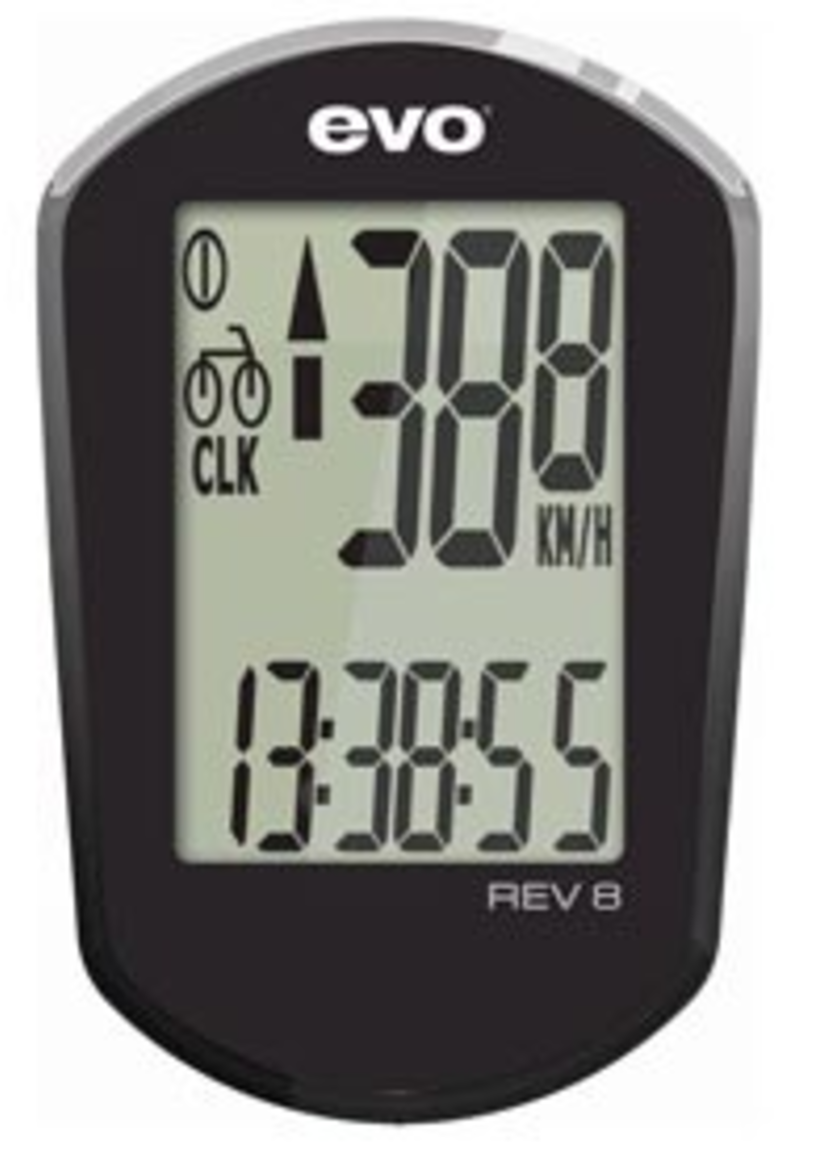 EVO REV 8 WIRED CYCLO COMPUTER BLACK