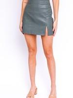 Leather Slit Skirt