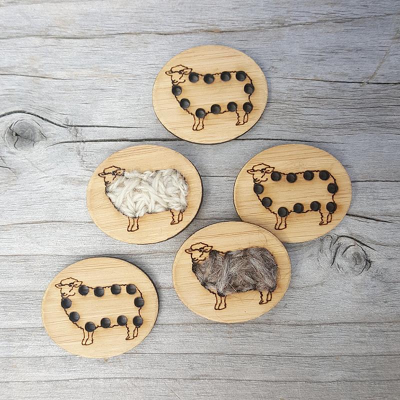 Katrinkles KATRINKLES - STITCHABLE SHEEP Button