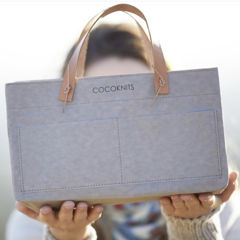 Cocoknits Cocoknits - Kraft Caddy with Leather Handles