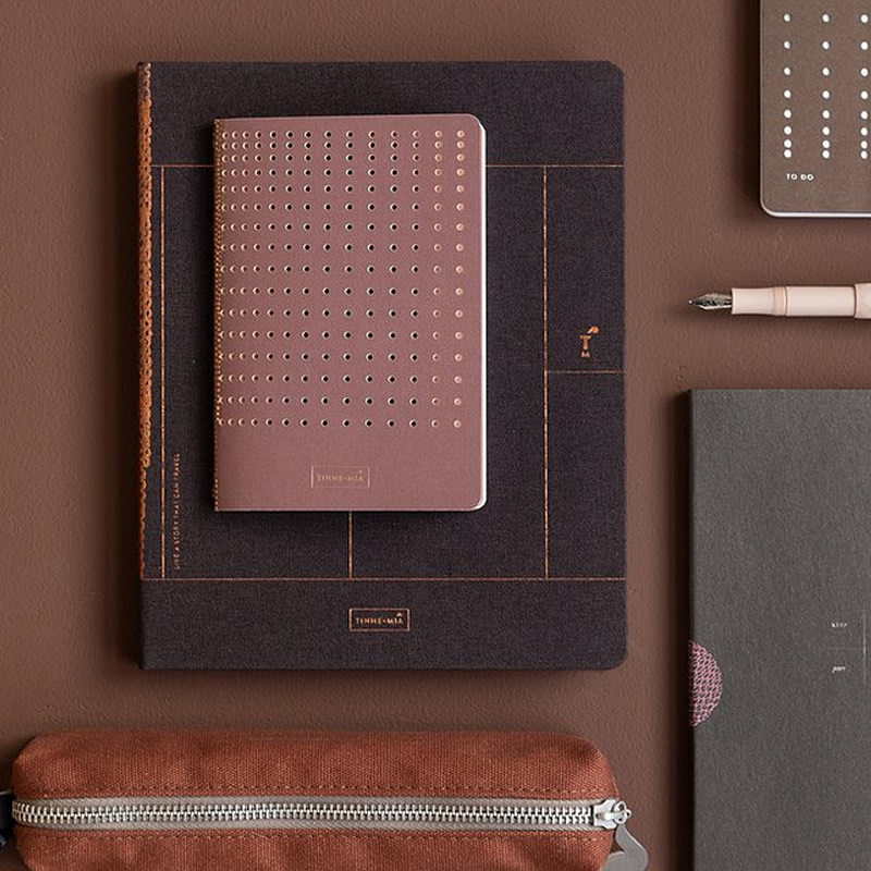 Tinne & Mia Tinne and  Mia - Linen Notebook A5