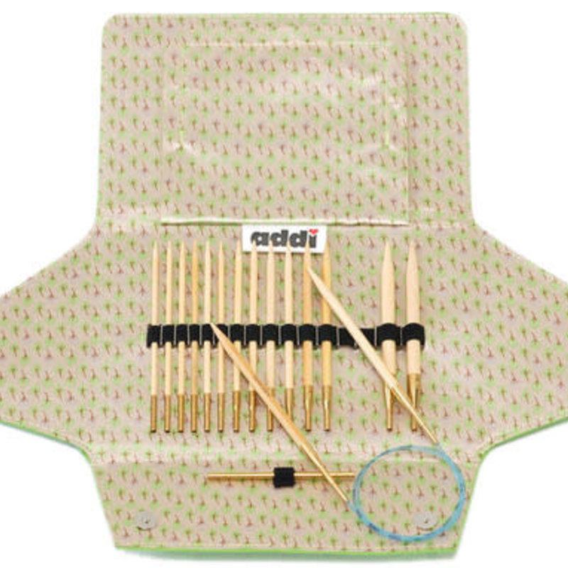 Addi Addi Click Bamboo Interchangeable Needle Set - Limited Edition Yellow Case